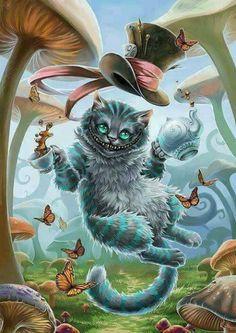 """"""" Não sou louco... A minha realidade é apenas diferente da sua."""" (gato de cheshire - Alice no país das maravilhas)"""