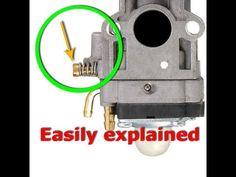 How to Adjust Carburetor with Single Carburetor Adjustment Screw Lawn Mower Maintenance, Lawn Mower Repair, Chainsaw Repair, Gas Golf Carts, Carburetor Adjustment, Power Tool Storage, Go Kart Plans, Engine Repair, Small Engine