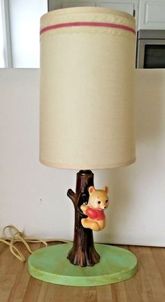 Bambi Table Lamp Night Light Touch Lamp Ceramic Switch **RARE VINTAGE SEPIA**