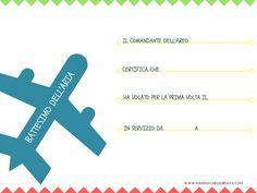 certificato del attesimo dellaria, per ricordare il primo volo del vostro bambino
