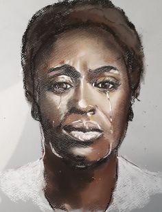 In tears in pastel - 2020 My Arts, Pastel, Portrait, Tattoos, Cake, Tatuajes, Headshot Photography, Tattoo, Portrait Paintings