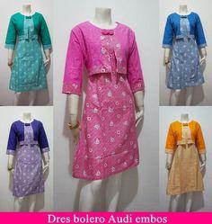 DRESS BOLERO AUDI EMBOS HARGA RP. 100.000 DRESS all size LD 98-100 cm Pemesanan Inbok WA 085647595014