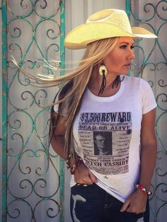 Ali Dee Collection - Butch Cassidy Wanted Tee, $36.00 (http://www.alideecollection.com/butch-cassidy-wanted-tee/)