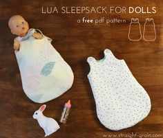 Lua Sleepsack for Dolls | Free pattern | Straight Grain