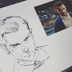 Literally just finished watching Stranger Things with @colleenlogue and had to do this quick little sketch of Eleven. #Strangerthings #netflix #art #illustration #schmandrewart #illustratorsoninstagram #artistsoninstagram #digitalart #wacom #photoshoppainting