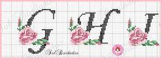 Artes e bordados da Sol: Monograma da Sol Rosa