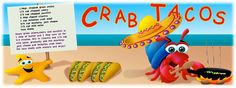 English    is    FUNtastic: Crab tacos