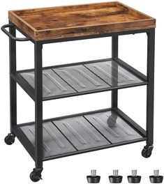100  Farmhouse Bar Carts and Rustic Kitchen Carts for your Farmhouse Style Kitchen. We absolutely love farmhouse kitchen island carts and rustic bar carts because they are beautiful and functional. Kitchen Island Cart, Kitchen Trolley, Farmhouse Kitchen Island, Rustic Kitchen, Kitchen Islands, Kitchen Decor, Home Bar Furniture, Furniture Plans, Farmhouse Bar Carts