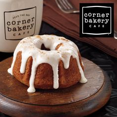 Save $3 on an online order of $8 or more now & get a FREE Gingerbread Pumpkin Baby Bundt from @Corner Bakery Cafe later!