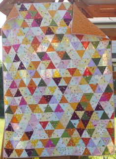 a quilt is nice: triangles
