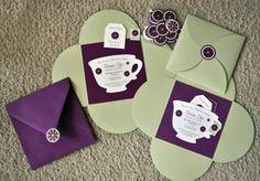 teavites - 10 tea party invitations