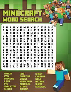 Minecraft-Word-Search.jpg 2550 × 3300 bildepunkter