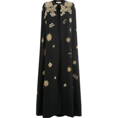 Emilio Pucci Sequin Embellished Evening Cape - black