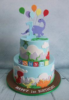 Dinosaur Cake // Tarta de dinosaurio