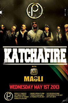 """Katchafire live at Park City Live, Wednesday May 1st!    #parkcitylive  www.parkcitylive.net/ianh  promo code """"ianh"""""""