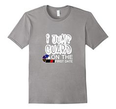 MMA BJJ Apparel presents another high quality T-shirt designed and screen printed in the USA. 'I Jump guard on the First Date!!!' A great gift idea available in a variety of colors and sizes for Men W...