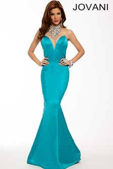 Satin mermaid gown 22735