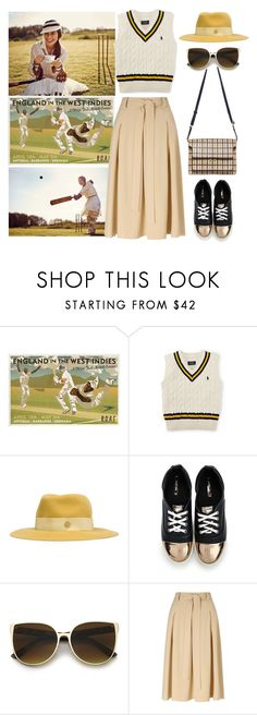 """""""Combed Cotton Cricket Vest"""" by thestyleartisan ❤ liked on Polyvore featuring Pippa, Maison Michel, Members Only, Miss Selfridge, cricket, lords and lordscricket"""