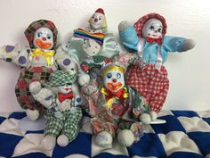 Send In the Clowns, Set of 5 by JustClickThreeTimes on Etsy