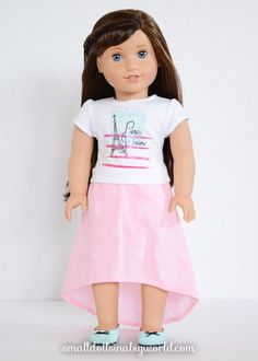 American Girl Doll Pink Arrow Geometric by PeppermintPursuits