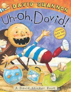 Uh-oh, David! Sticker Book by David Shannon, http://www.amazon.com