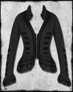 SPIN DOCTOR STEAMPUNK GOTHIC PINSTRIPE FLORENCE JACKET