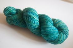 Luxury Twist - Colourway: Peacock ~ Suzy Parker Yarns (UK) / Etsy