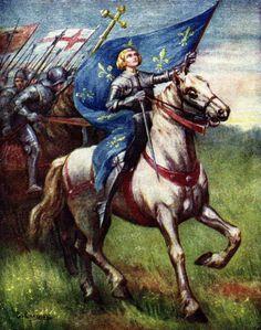 Joan of Arc Joan D Arc, Saint Joan Of Arc, St Joan, Catholic Art, Catholic Saints, Roman Catholic, Religious Art, Medieval, Jeanne D'arc