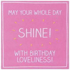 Happy Jackson Whole Day Shine Birthday Card | Temptation Gifts
