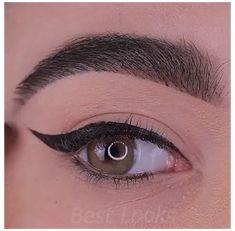 Eyeliner Make-up, Makeup Looks Tutorial, Smokey Eye Makeup Tutorial, Eye Makeup Steps, Makeup Eye Looks, Beautiful Eye Makeup, Eyebrow Makeup, Eyeshadow Makeup, Makeup Eyes
