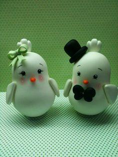 Topo de bolo passarinhos #casamento #topodebolocasamento