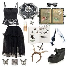 """""""~SUMMER GOTH~"""" by chai9 ❤ liked on Polyvore"""