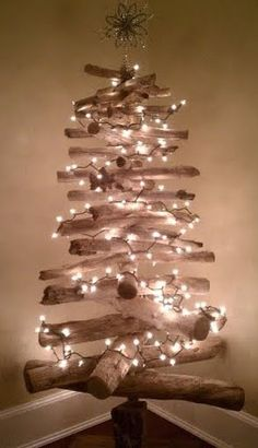 Driftwood Christmas tree...definitely my 2013 Christmas tree. Must begin beach combing early each morning. ~J