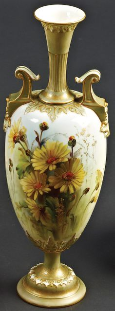 Hand painted With Flowers By G.H. Cole.