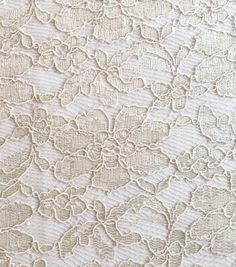 Pastel Perfection Collection Bonded Lace Cream Ivory FabricPastel Perfection Collection Bonded Lace Cream Ivory Fabric,