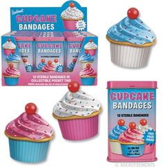 Cupcake bandages???  How great are these?