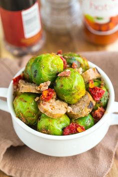 Warm Brussels Sprouts & Chorizo Salad