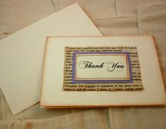 Hey, I found this really awesome Etsy listing at https://www.etsy.com/listing/104855647/thank-you-cards-vintage-book-page-set-of