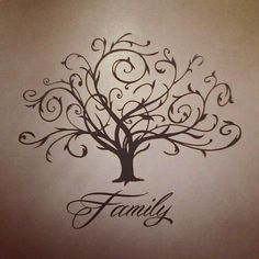 Family tree tattoo I would LOVE to have...Only thing I would change is the Family Id put the boys initials