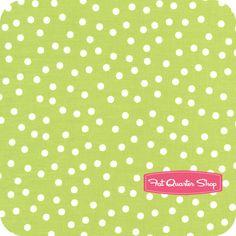 Fat Quarter Shop - Remix Lime Scatter Dots Yardage SKU# 12136-50
