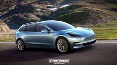 Designerii imaginează două versiuni noi pentru Tesla Model 3