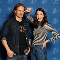 https://www.instagram.com/p/BRtqKuGhLjq/ These two are too adorable!!!👫😍👑💕🌟💪😩😂 #caitrionabalfe #queen #samheughan #outlander #clairefrase #jamiefraser #cuties #cute #adorable #beauties #beauty #gorgeous #otp #hotties #proudshipper #eccc #seattle #panel