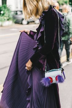 7 Chic Velvet Looks That'll Turn Heads This Season What a gorgeous combination of colour and texture!