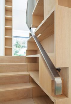 Finally, useful space around the stairs! Chelsea Town House by Moxon Architects Modern Staircase, Staircase Design, Staircase Storage, Interior Stairs, Interior Exterior, Architecture Details, Interior Architecture, Wc Decoration, Stair Handrail