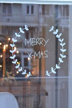 awesome christmas window decor ideas 21 ~ my.me awesome christmas window decor id. Christmas Mood, Noel Christmas, Christmas And New Year, Christmas Crafts, Christmas Decorations, Christmas Tables, Modern Christmas, Scandinavian Christmas, Simple Christmas