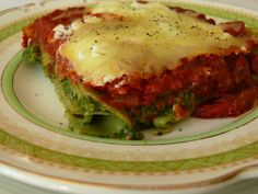 Spinach and Broccoli Lasagne Rolls