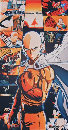 Manga One Punch Man, One Punch Man Poster, Anime Boys, Otaku Anime, Cute Anime Wallpaper, Man Wallpaper, Saitama One Punch Man, One Piece Images, Animes Wallpapers