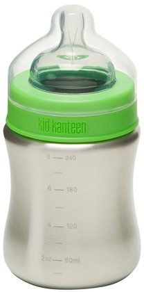 BPA free baby bottles - this one is stainless - and other good stuff at diapers.com
