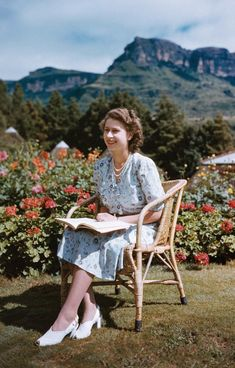 The Queen (then Princess Elizabeth) sits in the Natal National Park in South Africa on her 21st birthday, April 21, 1947.