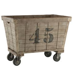French Laundry Cart - rustic - Hampers - Indeed Decor Industrial Chic, Industrial Furniture, Vintage Industrial, Industrial Storage, Pipe Furniture, Industrial Farmhouse, Industrial Revolution, Distressed Furniture, Furniture Vintage